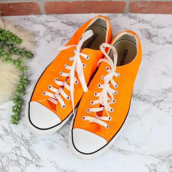 Converse Orange Low Top Sneakers Men's 10